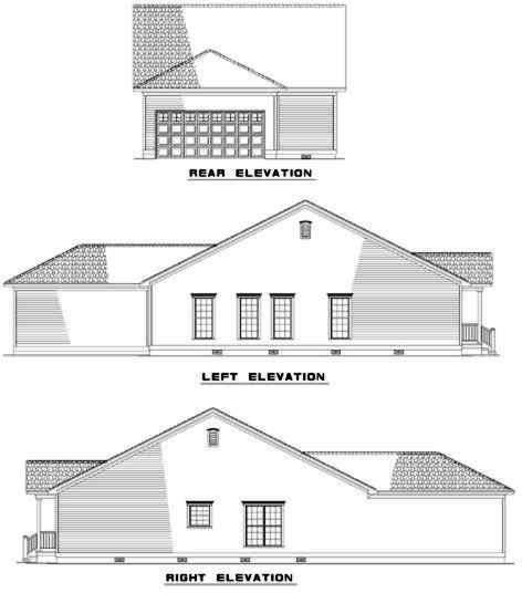 Rear Elevation Plan: 12-320