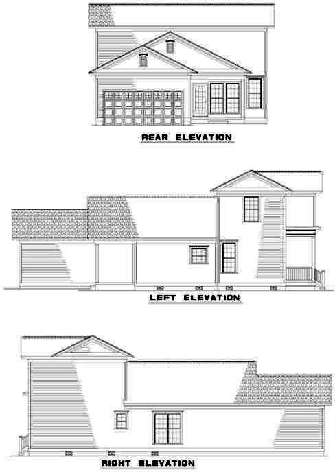 Rear Elevation Plan: 12-321