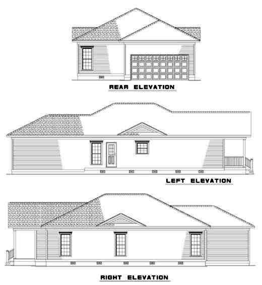 Rear Elevations Plan:12-322