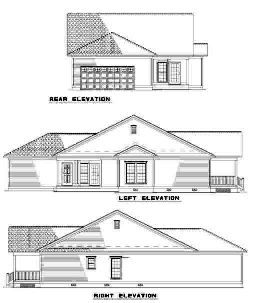 Rear Elevation Plan: 12-323