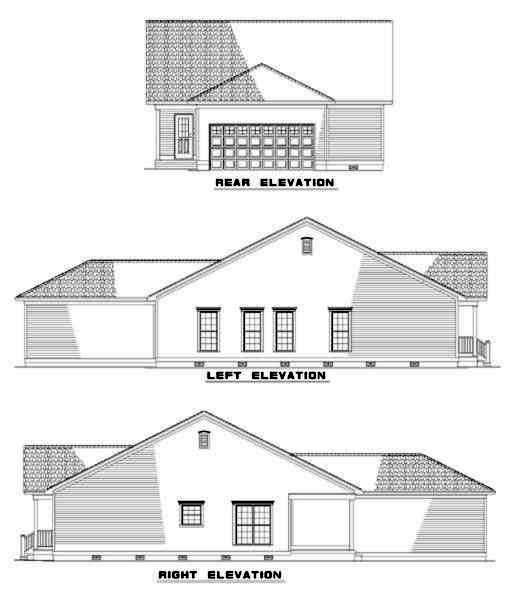 Rear Elevation Plan: 12-324