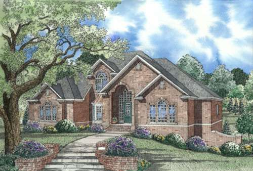 European Style House Plans Plan: 12-325