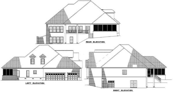 Rear Elevation Plan: 12-325