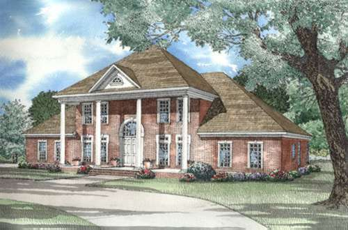 Southern-colonial Style Floor Plans Plan: 12-326