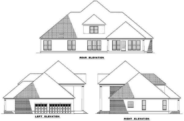 Rear Elevation Plan: 12-326