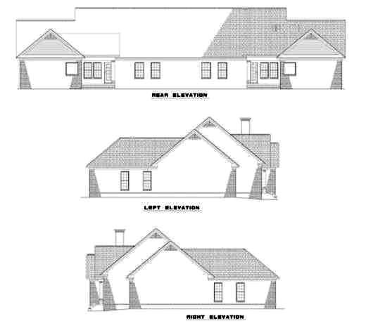 Rear Elevation Plan: 12-327