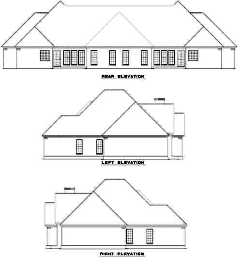 Rear Elevation Plan: 12-328