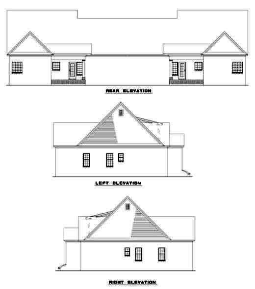 Rear Elevation Plan: 12-329