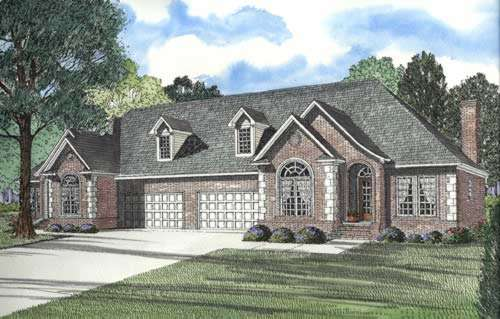 European Style Home Design Plan: 12-332