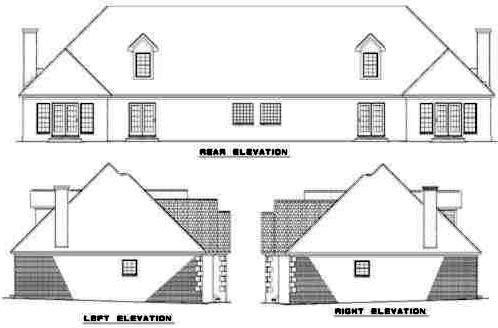 Rear Elevation Plan: 12-332