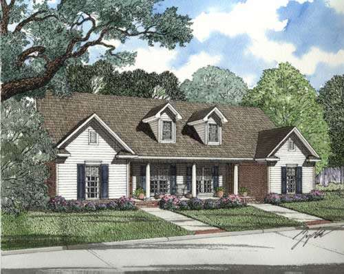 Country Style Home Design Plan: 12-333