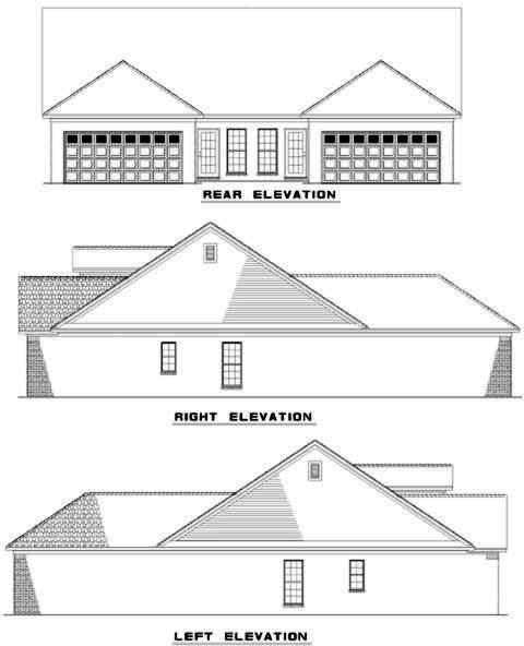 Rear Elevation Plan: 12-333