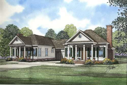 Southern Style Floor Plans Plan: 12-334