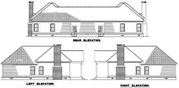 Rear Elevation Plan: 12-334