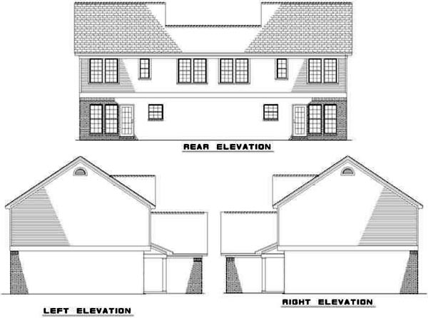 Rear Elevation Plan: 12-335
