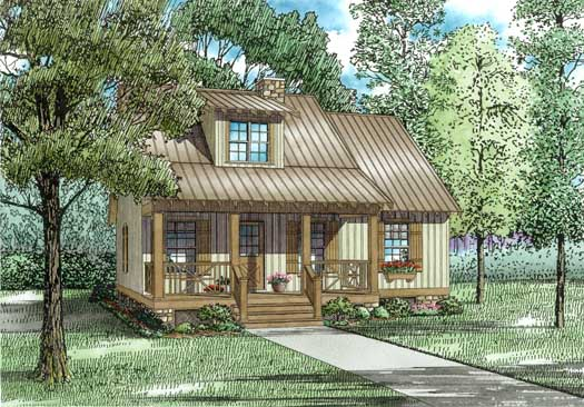 Country Style Home Design Plan: 12-336