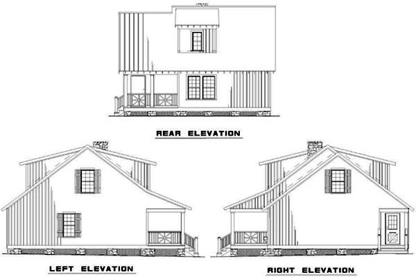 Rear Elevation Plan: 12-336