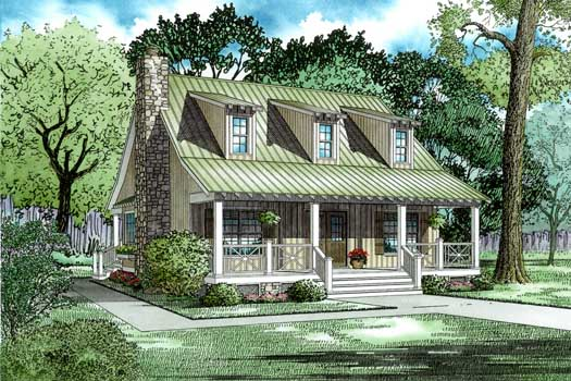 Country Style Home Design Plan: 12-337