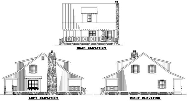 Rear Elevation Plan: 12-337