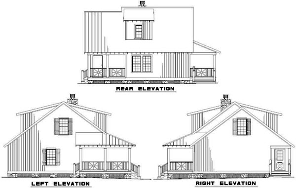 Rear Elevation Plan: 12-338