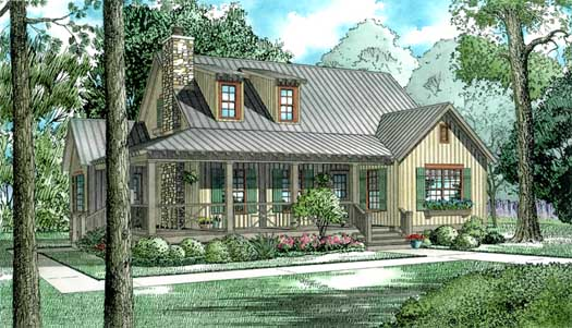 Country Style House Plans Plan: 12-340