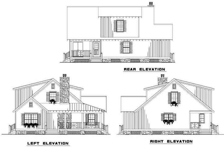 Rear Elevation Plan: 12-340