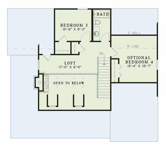 Upper/Second Floor Plan: 12-340