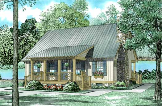 Country Style Floor Plans Plan: 12-341