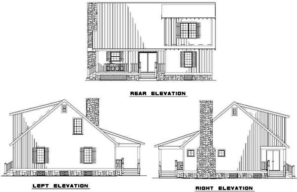Rear Elevation Plan: 12-341