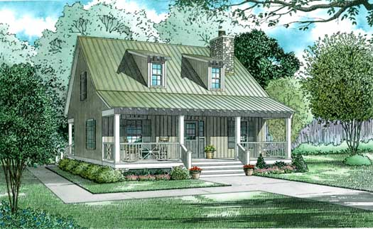 Country Style Home Design Plan: 12-342