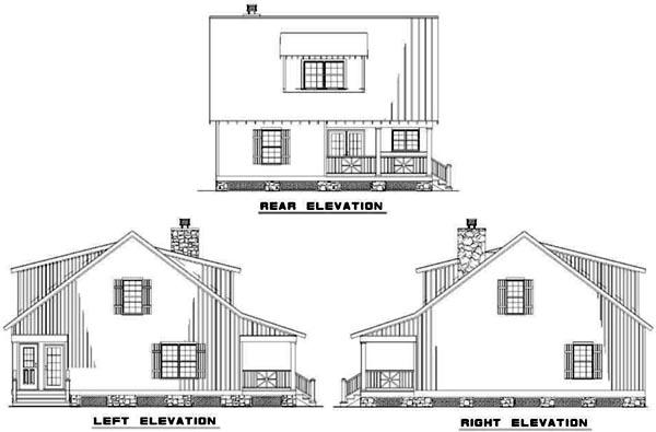 Rear Elevation Plan: 12-342