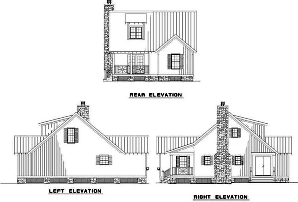 Rear Elevation Plan: 12-343