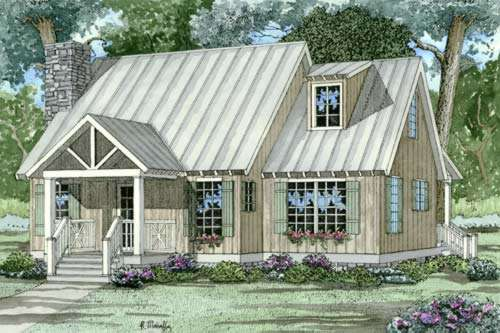 Country Style Floor Plans Plan: 12-344