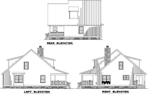 Rear Elevation Plan: 12-345