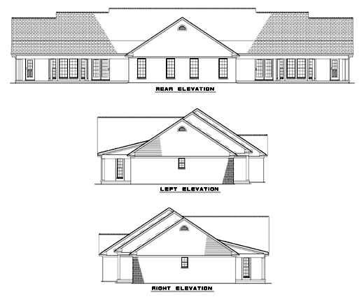 Rear Elevations Plan:12-346