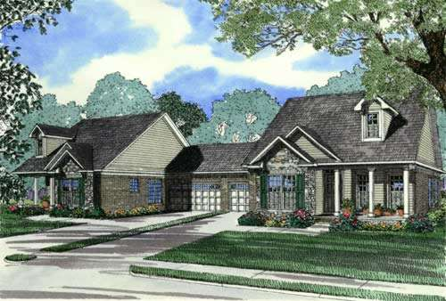 Traditional Style Home Design Plan: 12-347