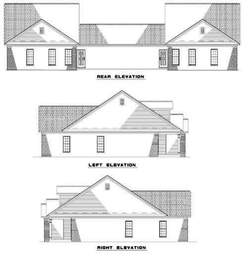 Rear Elevation Plan: 12-347