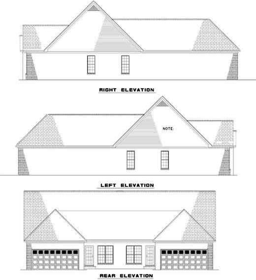 Rear Elevation Plan: 12-348