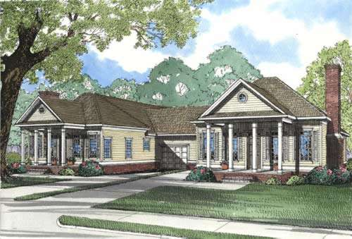 Southern Style Floor Plans Plan: 12-350