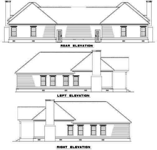 Rear Elevation Plan: 12-350