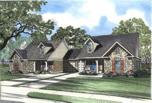 Traditional Style Home Design Plan: 12-351