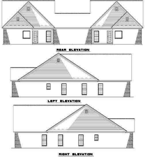 Rear Elevation Plan: 12-351