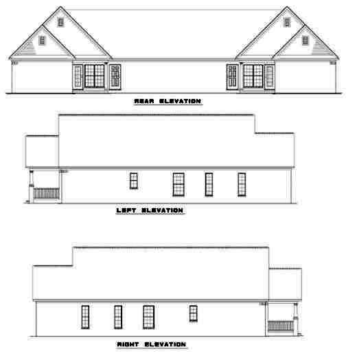 Rear Elevation Plan: 12-352