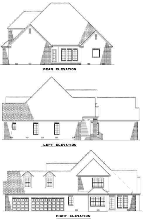 Rear Elevation Plan: 12-355
