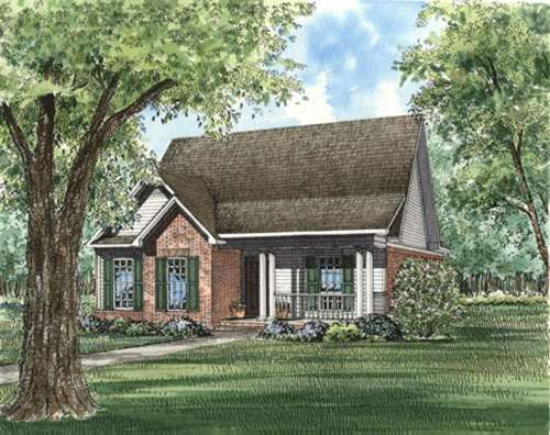 Traditional Style Home Design Plan: 12-356