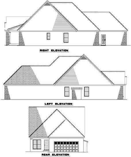 Rear Elevation Plan: 12-356