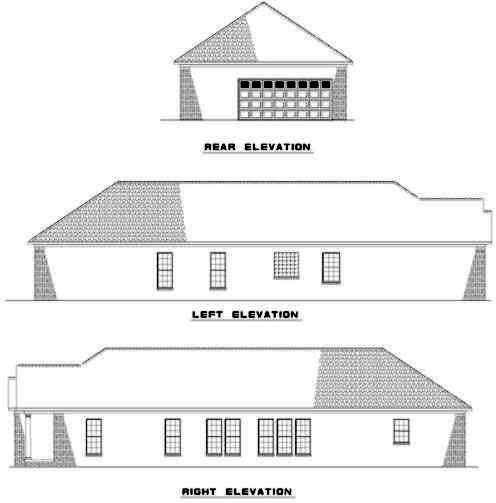 Rear Elevations Plan:12-358