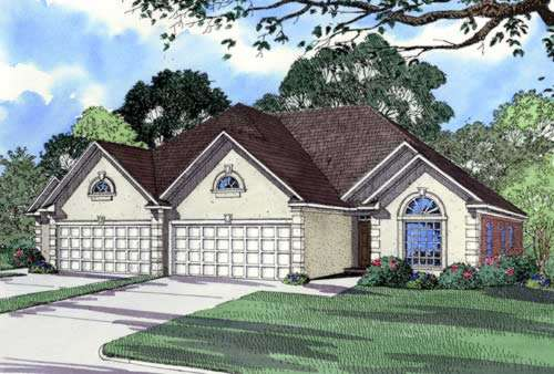 European Style Home Design Plan: 12-359