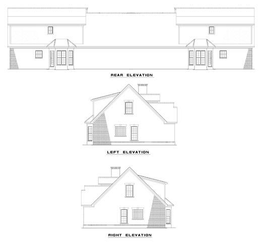 Rear Elevation Plan: 12-360