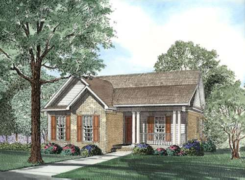 Country Style Home Design Plan: 12-368